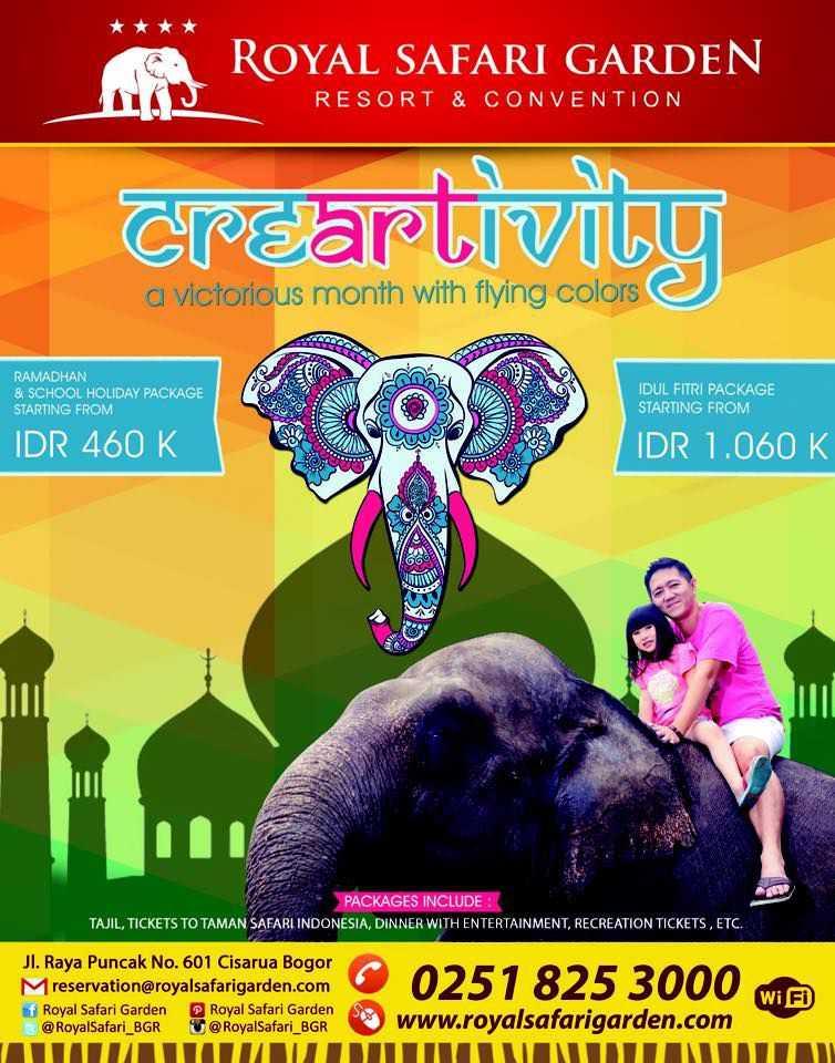 Promo Lebaran Royal Safari Garden & Diskon Tiket Masuk 30%