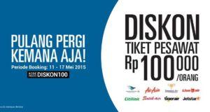 Kode promo tiket pesawat dari tiket.com diskon semua penerbangan RP 100.000