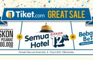 Promo tiket pesawat lebaran 2015 Great Sale Tiket.com