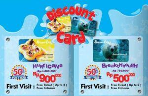 Kartu Diskon Snowbay gratis 4 tiket masuk dan diskon 50% untuk 1 tahun.
