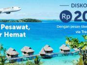Promo Traveloka Apps dapatkan kode promo hotel seniali Rp 200.000 dengan memesan tiket pesawat garuda