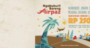 Promo Tiket Pesawat 2016 Airpaz diskon hingga Rp 250.000