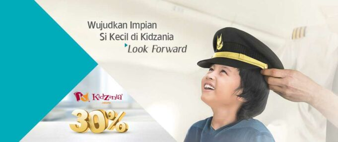 Promo Boarding Pass Garuda Indonesia bermain di Kidzania Khusus tiket anak diskon 30%