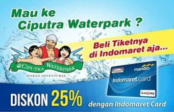 Promo Ciputra Waterpark Surabaya dengan kartu Indomaret dapatkan diskon harga diskon tiket masuk sebesar 25%