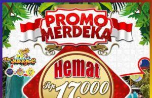 Promo Jungle Bogor Waterpark diskon Rp 17.000 khusus hari kemerdekaan.