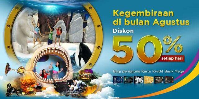 Promo Tiket Masuk Trans Studio Bandung Kartu Kredit Mega cukup bayar dengan setengah harga