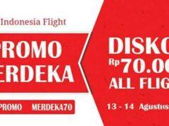 Promo tiket pesawat Indonesiaflight diskon semua penerbangan, semua rute, dan bebas memilih tanggal.