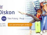 Nikmati tiket pesawat promo Sriwijaya Air diskon hingga 10% hanya di Panorama Tour