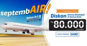 Nikmati Diskon Rp 80.000 pemesanan tiket pesawat dengan menggunakan kode promo tiket pesawat dari tiket.com