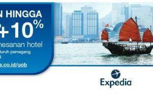Promo hotel expedia kartu kredit UOB mendapatkan diskon langsung 10%.