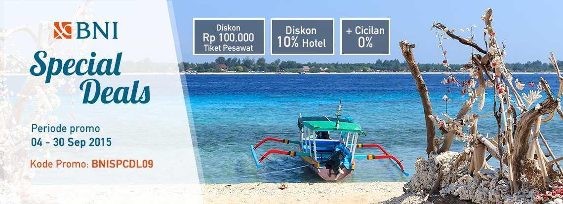 Promo Hotel & Tiket Pesawat Kartu Kredit BNI di Panorama Tours Diskon hingga Rp 100.000, dan 10% hotel