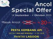 Promo tiket masuk ancol hanya Rp 20.000. Ajak teman dan keluarga berekreasi di Taman Impian Jaya Ancol