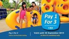 Promo BCA Waterbom PIK Jakarta Bayar 1 Gratis 3 tiket masuk.