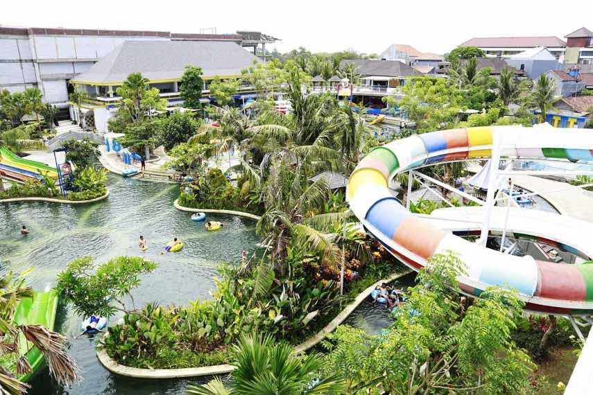 Circus Waterpark Kuta Bali, menawarkan kegembiraan bermain iar bermasa teman dan keluarga.