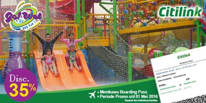 Promo Go Wet Grand Wisata Bekasi Boarding Pass Citilink Diskon 35%