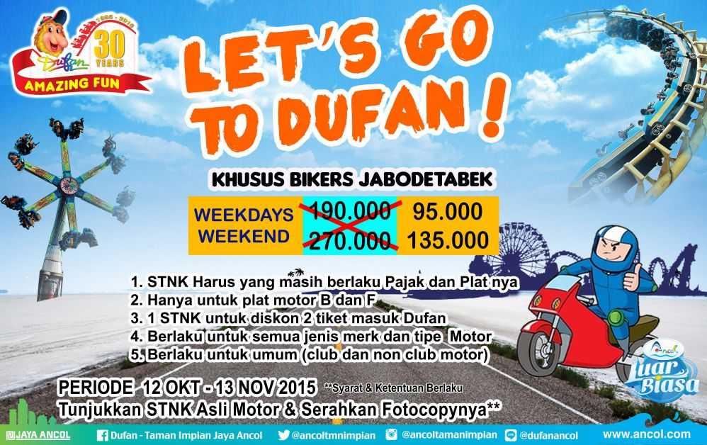 Promo Dufan STNK Motor Oktober - Travels Promo