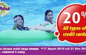 Nikmati harga tiket masuk lebih murah dengan berbagai promo Go Wet Water Adventure Bekasi.