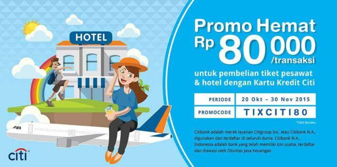 Promo tiket pesawat dan hotel dengan Kartu Kredit Citibank di tiket.com