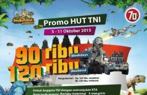 Promo Jungle Land HUT TNI, dapatkan tiket masuk dengan harga spesial. Baik weekend maupun weekdays.