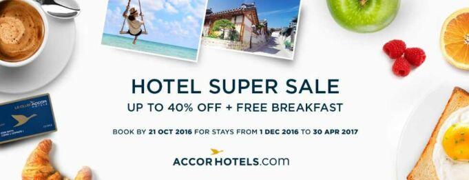 Dapatkan diskon hingga 40% menginap di Jaringan hotel Group Accor, gunakan kartu kredit BNI.