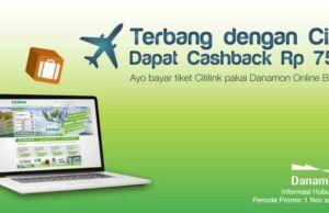Nikmati penawaran menarik promo kartu kredit dan bank pemesanan tiket pesawat citilink cash bcak hingga Rp 75.000 serta benefit Lainnya