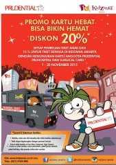 Promo Kidzania Prudential Diskon 20% tiket masuk dan 15 tiket anak-anak dengan kartu PruHospital atau Surgical Card