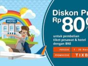 Promo Tiket Pesawat Kartu Kredit BNI di tiket.com dapatkan diskon hingga Rp 80.000.