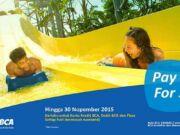 Nikmati berbagai promo waterbom PIK Jakarta baik dengan kartu kredit bank dan merchant lainnya.