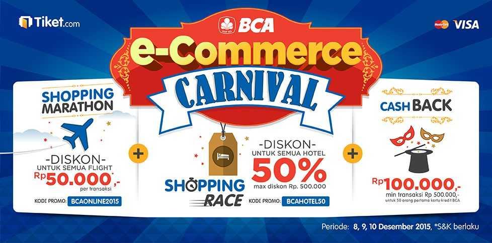 Dapatkan tiket pesawat lebih murah di BCA ECarnival dari beberapa travel agen online
