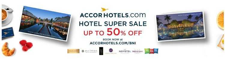 Promo Hotel kartu kredit BNI salah satunya di Accor Hotel diskon hingga 50%