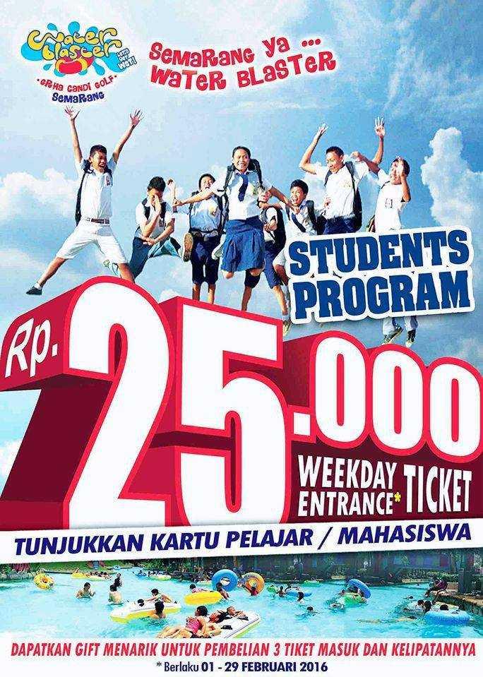 Promo Water Blaster Semarang khusus pelajar harga tiket masuk hanya Rp  25.000 300a9fb9e8