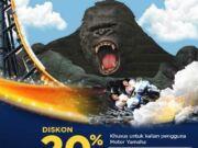 Promo STNK Yamaha Trans Studio Bandung nikmati diskon 20% tiket masuk.