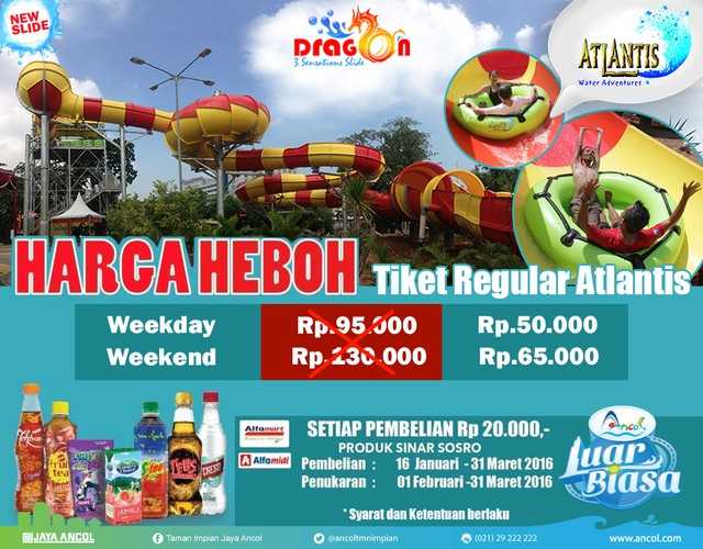 Promo Alfamart Indomaret Tiket Atlantis Hanya Rp 50 000 Travels