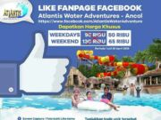 Hanya dengan like Fanpage Ancol Bisa mendpatkan harga Tiket Masuk istimewa.