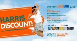 Promo Hotel Harris di seluruh Jaringan Harris Indonesia diskon harga kamar hingga 15%.