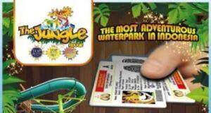 Promo Jungle Waterpark Bogor dengan menunjukkan SIM bisa menikmati Buy 1 Get 1 Free.
