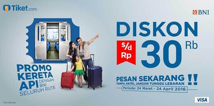 Promo Tiket Kereta Api Lebaran Hemat Rp 50.000 - TravelsPromo