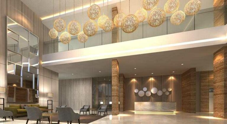 Lobi hotel yang dirancang penuh kenyaman untuk setiap pengunjung