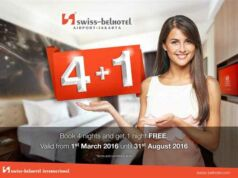 Penawaran menginap gratis 1 malam di Swiss-Belhotel Bandara Soekarno Hatta.