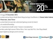 Taman Safari Prgen Pasuruan diskon tiket masuk 20% dengan kartu kredit Bank Mega