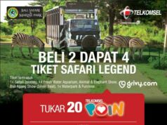 Bali Safari Promo Telkomsel Poin Buy 2 Get 4 dengan menukar 20 poin Telkomsel di *700*710#