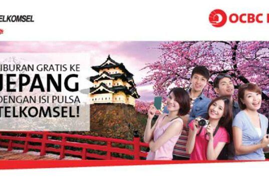 Dapatkan kesempatan liburan gratis ke Jepang cukup dengan mengisi pulsa Telkomsel bagi Nasabah dan Karyawan OCBC Niaga.