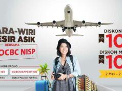Promo tiket pesawat dan hotel menggunakan kartu kredit OCBC NISP di tiket.com diskon hingga Rp 100.000.