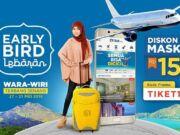 Promo lebaran tiket pesawat dari tiket.com diskon hingga Rp 150.000 gunakan Android atau IOS apss untuk memesan.
