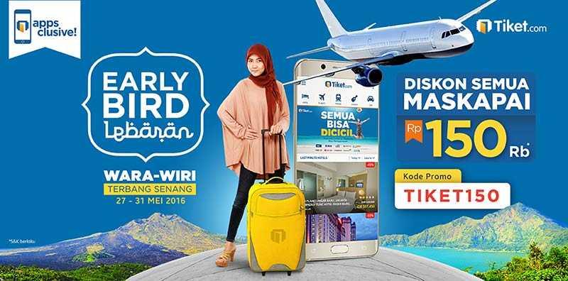 Promo Tiket Pesawat Lebaran Tiket Com Diskon Rp 150k Travelspromo