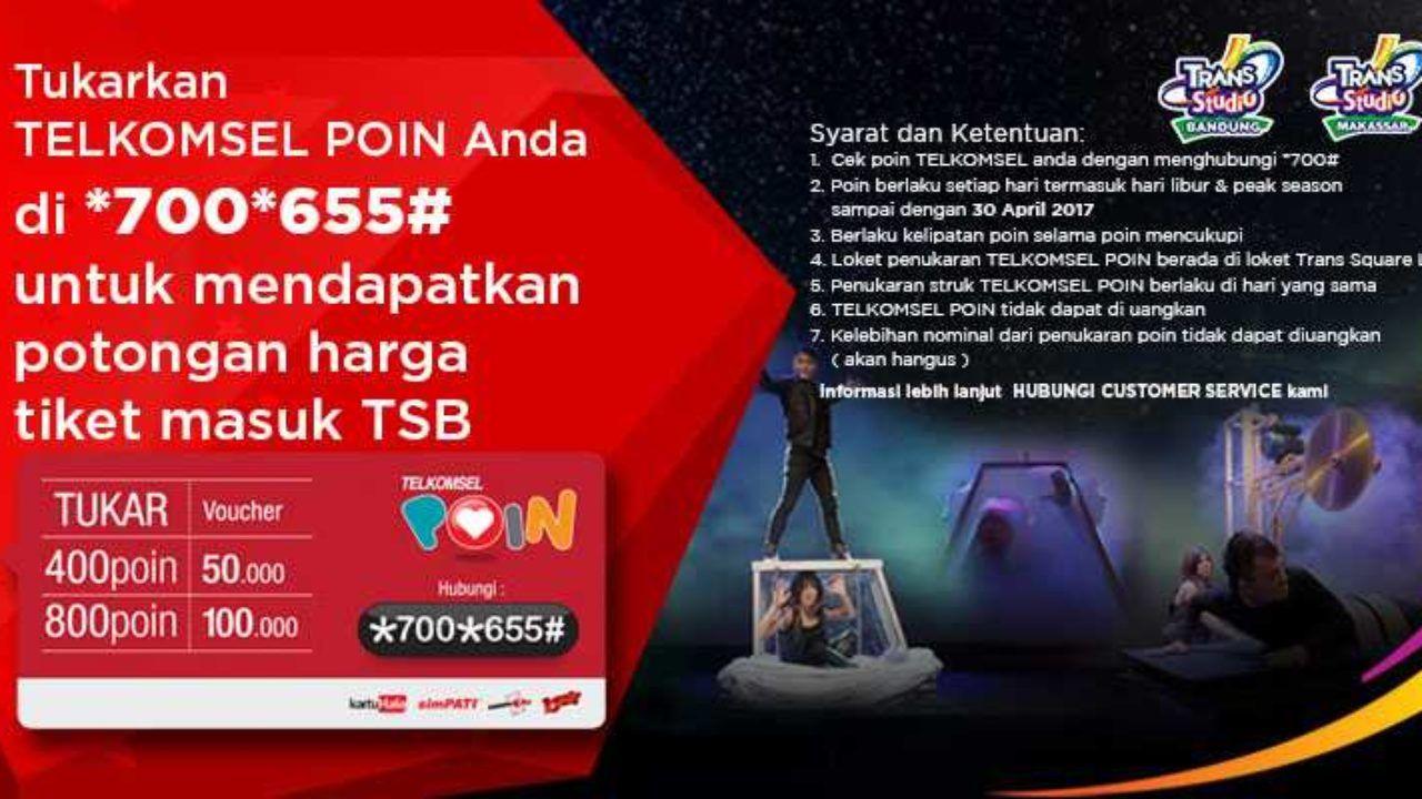 Promo Telkomsel Poin Trans Studio Bandung Diskon Rp 100K