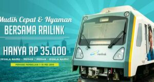 Promo tiket kereta Railink Kuala Namu - Medan hanya Rp 35.000 khusus lebaran