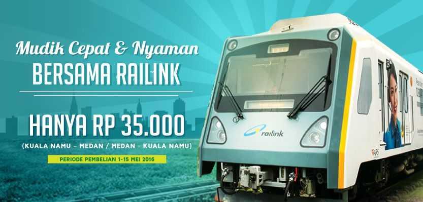 Promo Tiket Kereta Railink Kuala Namu Medan Pp Rp 35k