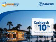 Promo hotel kartu kredit BRI cashback 10% nusatrip