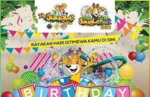 Tiket masuk gratis ke Jungle Fest dan Jungle Waterpark khusus buat pengunjung yang berulang tahun.